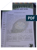 Voto resolutivo de Adepcoca