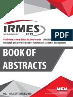 International Scientific Conference - IRMES 2019