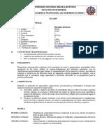 Silabo Mecánica de Rocas 2019-II