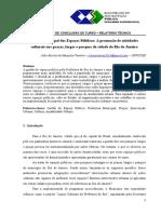 Relatório sobre o uso das praças no RJ