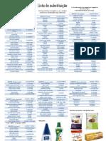 Lista de Substituição
