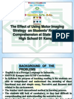 Motor Imaging Strategy on Students' Vocabulary in Reading Comprehension