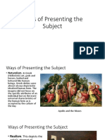 Ways of Presenting A Subject