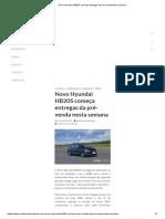 Novo Hyundai HB20S Começa Entregas Da Pré-Venda Nesta Semana