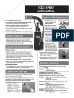 Accu-spray User's Manual