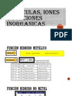Moleculas, Iones y Funciones Inorganicas