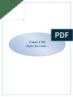 Cours CSS - Styles Des Liens