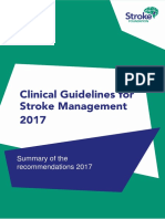 clinical guidlines of stroke management 2017