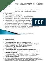 1. Como Constituir Una Empresa en El Peru