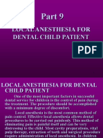 (Local Anesthesia for Dental Child)