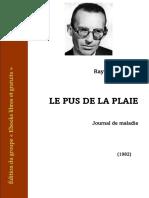 Raymond Guérin - Le Pus de La Plaie