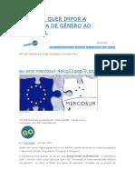 A Europa Quer Impor a Ideologia de Gênero Ao Mercosul