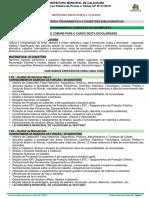 3. Anexo II - Conteúdo Programático e Sugestões Bibliográficas 16.10