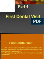 (First Visit) of child to dental clinic