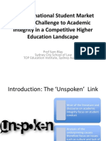 Student market challenge to academic integrity in competitive higher education