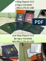 WA 0813.270.43.100, Jual Cover Raport Kurikulum 2013 SMK di Lotu Sumatra Utara