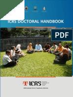 ICRS 20121008 22 Icrs Doctoral Handbook