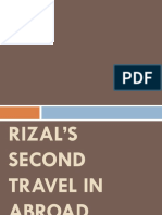 Rizals Second Travel in Abroad