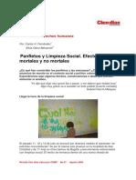 Panfletos y Limpieza Social. Efectos mortales y no mortales