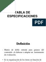 TABLA DE ESPECIFICACIONES.pptx