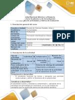 Guía de Actividades y Rubrica de Evaluación - Fase 1 - Reconocimiento