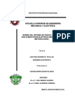 Diseño Del Sistema de Puesta a Tierra de Una Subestacion Electrica Mediante Dos Metodologias