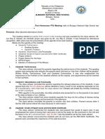 Minutes of Hpta Meeting Sample