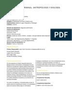 Investigación Criminal Antropología y Biología Forense