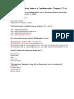 CCNA Exploration Network Fundamentals Chapter 5 Test