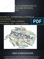 Ppt on Specification