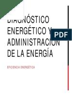 4. Diagnóstico Energético y Administración de La Energía