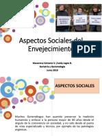 Aspectos Sociales Del Envejecimiento 2019