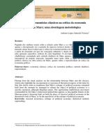 2015 Adriano Lopes Almeida Teixeira o Lugar Dos Economistas Classicos Na Critica Da Economia Politica de Marx Uma Abordagem Metodologica 1