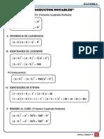Álgebra Formulario - Productos Notables