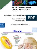 6. Estructura y función de la membrana celular