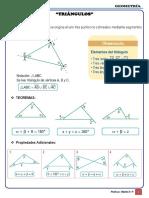 Geometría Formulario - Triángulos y Propiedades