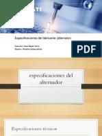 Datos Tecnico Del Alternador -Silvestre