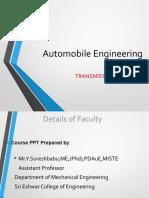 Automotive Transmission System& Clutch (1)