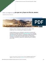 Las 15 Mejores Cosas Que Ver y Hacer en Río de Janeiro
