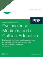 Evaluación y medición de la calidad educativa