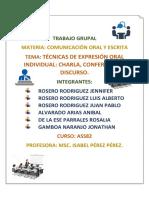 Comunicacion Oral y Escrita Trabajo Grupal