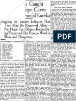 Eureka Reporter report of cave in Sep 18 1914 page 1