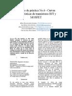 EQUIPO X.reporte de Práctica 4 - Curvas Características de Transistores BJT y MOSFET