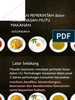 Peranan Pemerintah Dalam Pengawasan Mutu Makanan