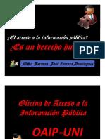 3.- Exposicion a Estudiantes I Semeste 2014