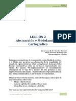 LECCIÓN 2 Abstracción y Modelamiento Cartográfico