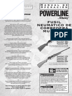 Powerline Model 880 Owners Manual (Spanish)