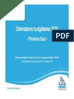 Présentation du DOB 2020 - APS du 24.10.19
