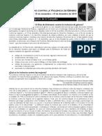 Descripción de la Campaña - 16 DÍAS DE ACTIVISMO CONTRA LA VIOLENCIA DE GÉNERO - 25 de noviembre –10 de diciembre de 2010