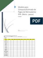 Modelo  Para Cómputo Estimado de Retrosalarios (agentes)  PPR